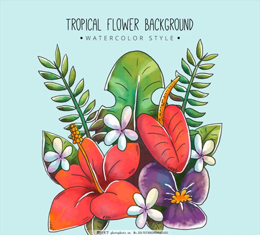 设计素材 复古海报 手绘海报 花卉海报 创意 高端 大气 欧美 美术