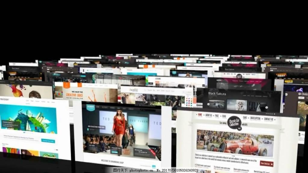 照片墙阵列多尼洛骨牌排列幻灯片展示 网页 立体 商务 企业 视频模板