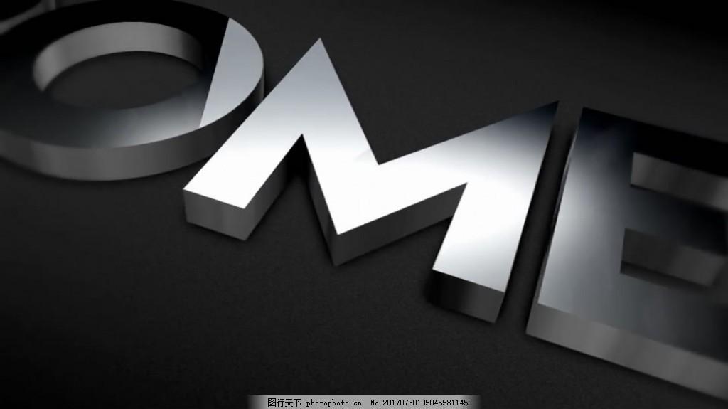 三维立体Logo照片反射 展示 简洁 时尚 创意 视频模板 高清视频模板