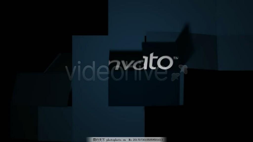 纸张折叠翻转文字Logo展示 时尚 黑白 文字特效 简约 视频模板
