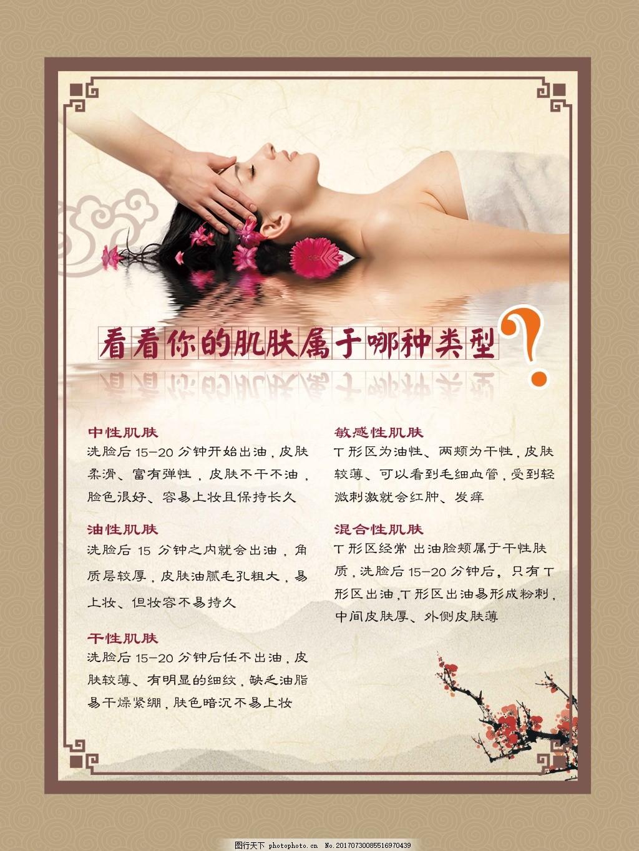 美膚展板素材 魅力 女人 肌膚類型 測試