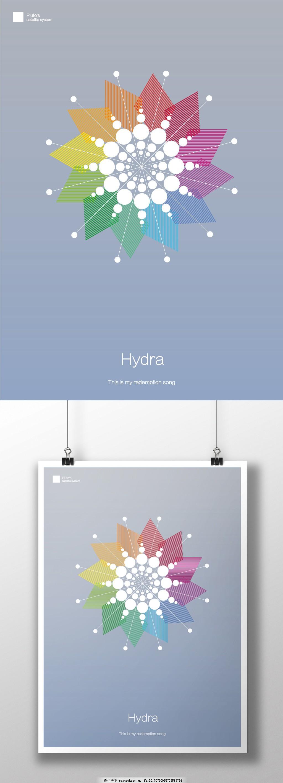 简约商业海报 线条设计 圆点 展板 创意