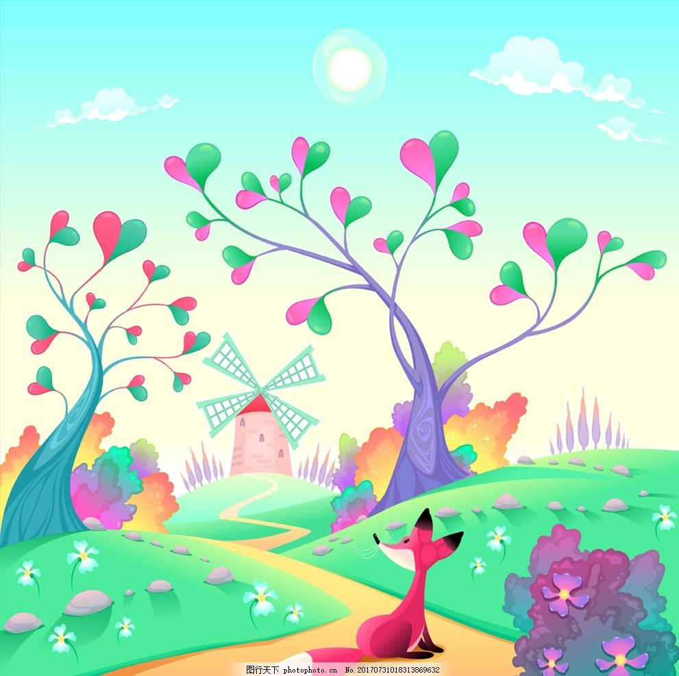 小动物 可爱 卡通图案 幼儿园 儿童 游乐场 儿童乐园 公园 小动物漫画