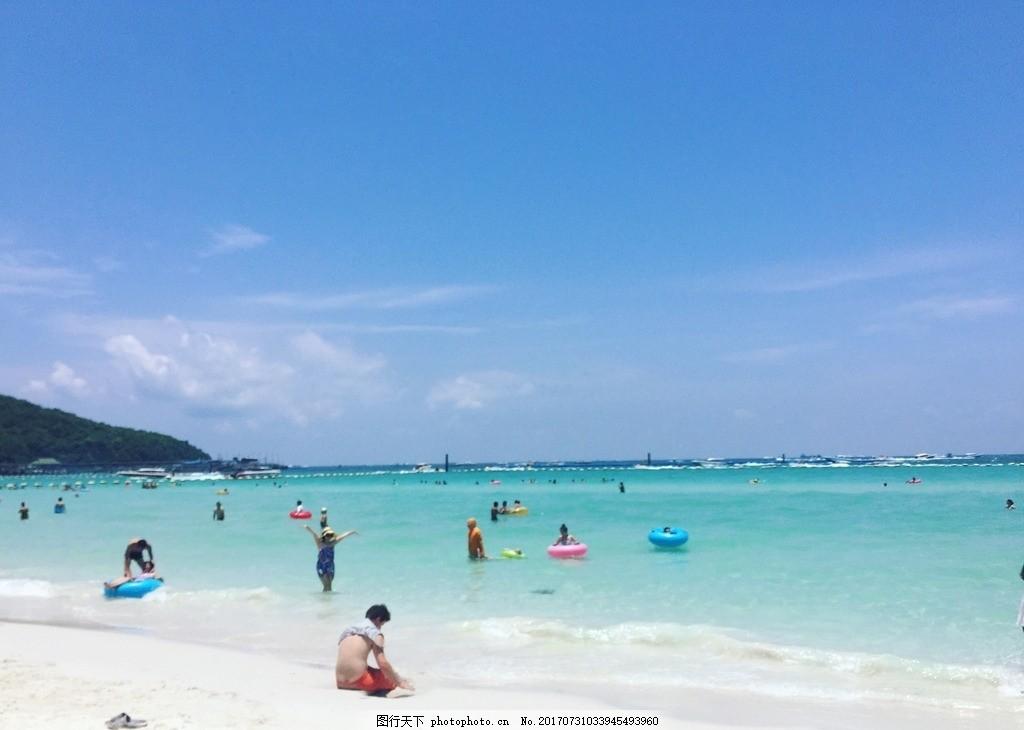 泰国芭提雅蓝岛的海