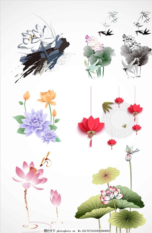 中国风素材 卡通素材 花边 花纹花边 彩色素材 广告设计 设计素材