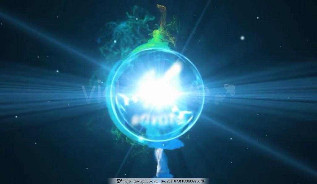 粒子能量球Logo文字展示 绚丽 光效 视频模板 高清视频模板