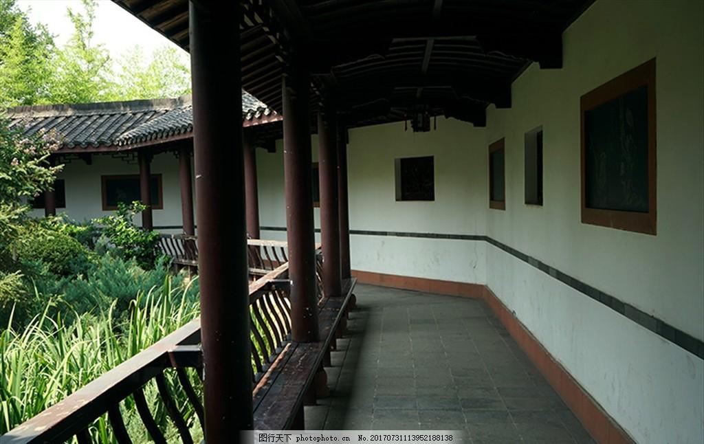 园林走廊 江南风光 古建筑 绿植 人文 摄影 建筑园林 园林建筑