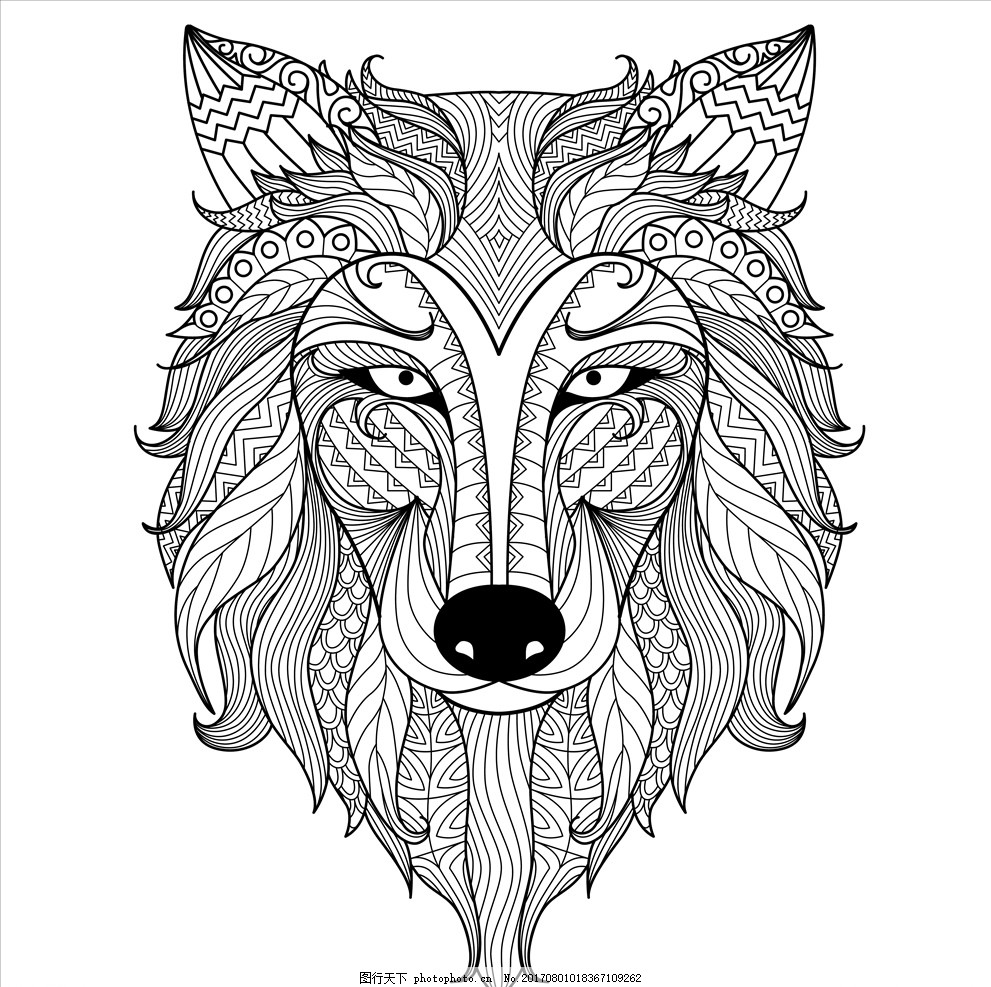 儿童画画 卡通动物漫画 扁平动物 动物矢量 卡通漫画 q版动物 狼图标
