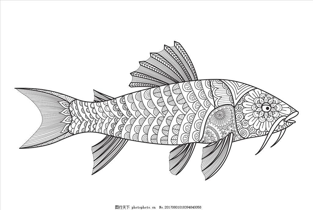 卡通鱼矢量 手绘鱼 手绘矢量 鱼图标 手绘矢量图 鱼矢量图 贴纸