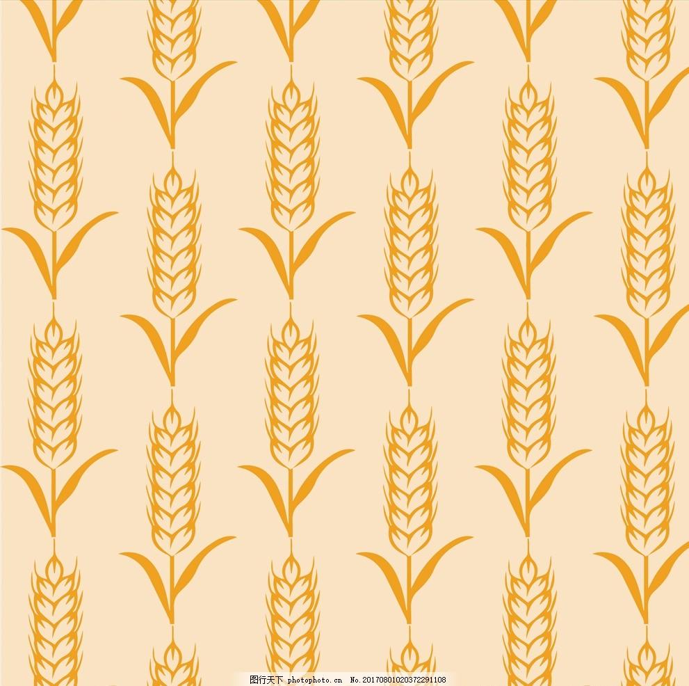 麦穗 麦田 金麦穗 麦子 熟小麦 食品蔬菜水果 设计 底纹边框 花边花纹