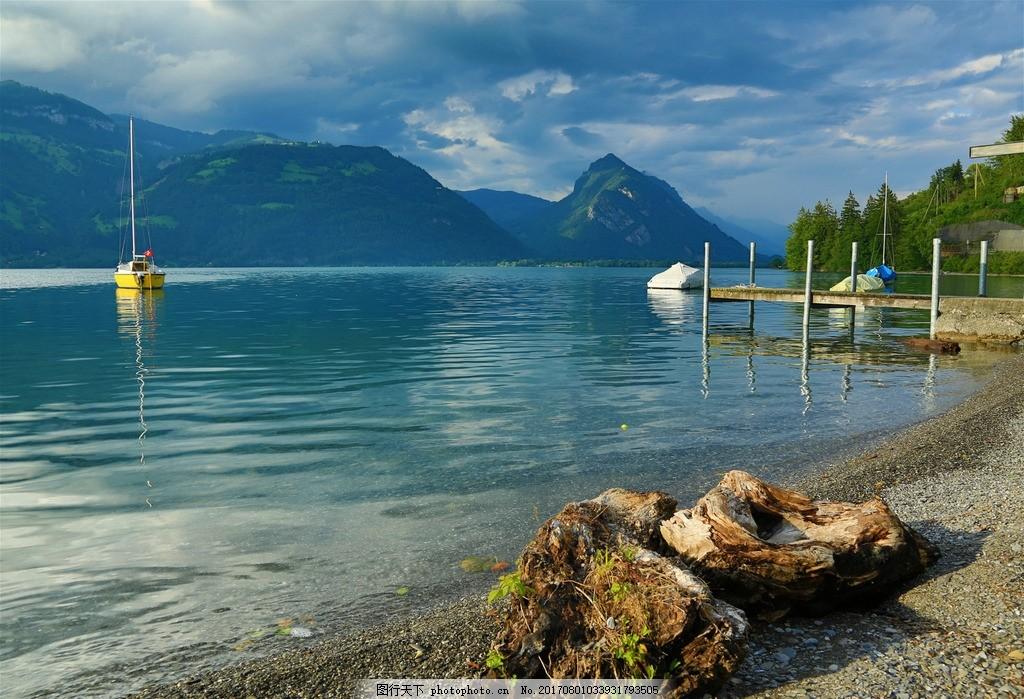 唯美 风景 风光 旅行 自然 瑞士 欧洲 图恩湖 湖 湖水 湖泊 山水 山水