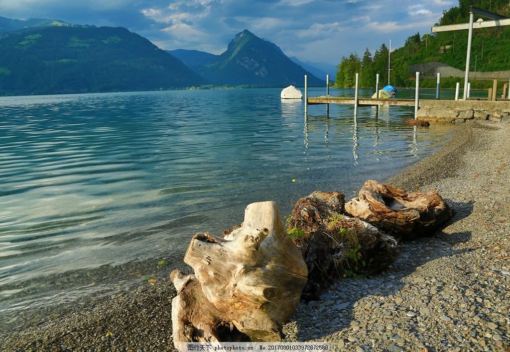图恩湖 唯美 风景 风光 旅行 自然 瑞士 欧洲 湖水 湖泊 山水