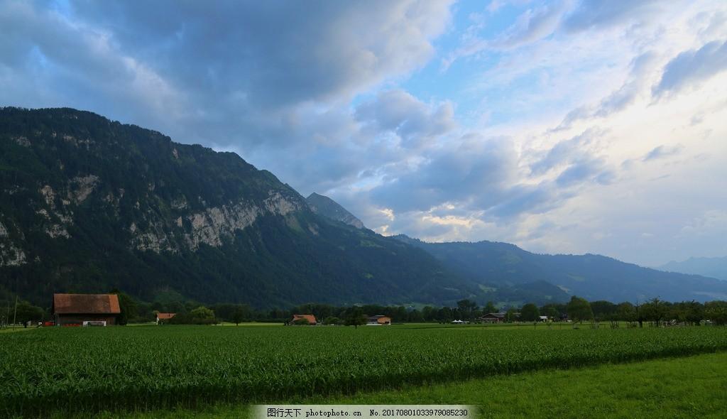 唯美 风景 风光 旅行 自然 瑞士 欧洲 因特拉肯小镇 欧洲小镇 生态