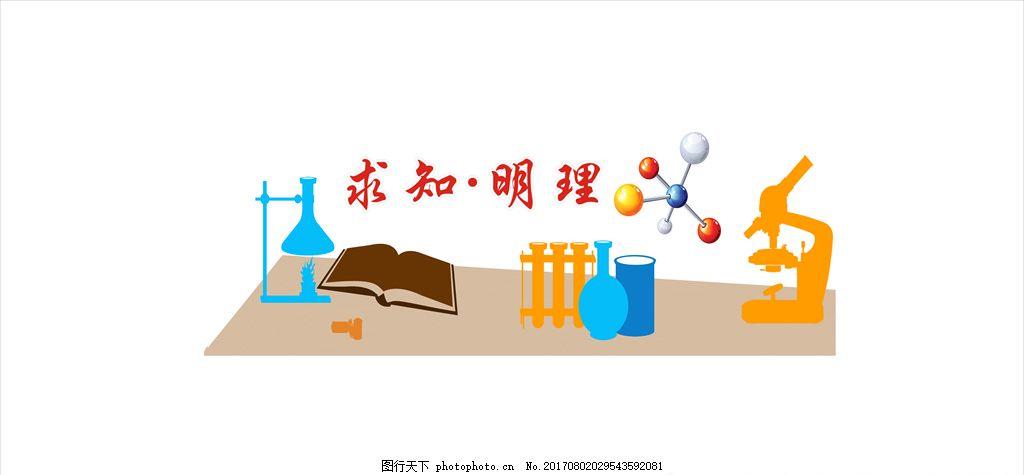 标语 文化墙 教室背景标语 室场背景标语 实验室 仪器室 设计 广告