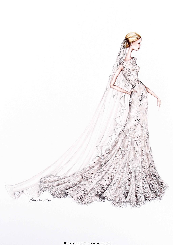 服装设计婚纱设计大师手稿图