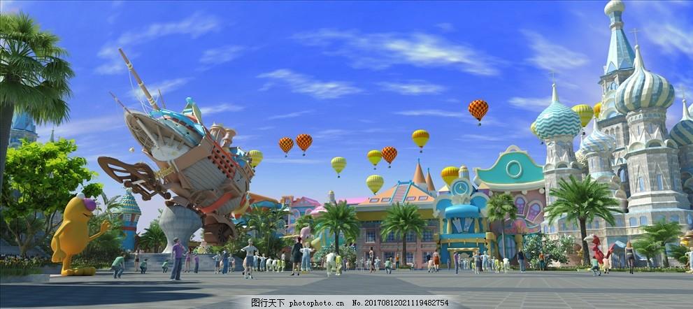 卡通 游乐场 卡通游乐场 游乐场大门 儿童游乐场 设计 3d设计 3d作品图片