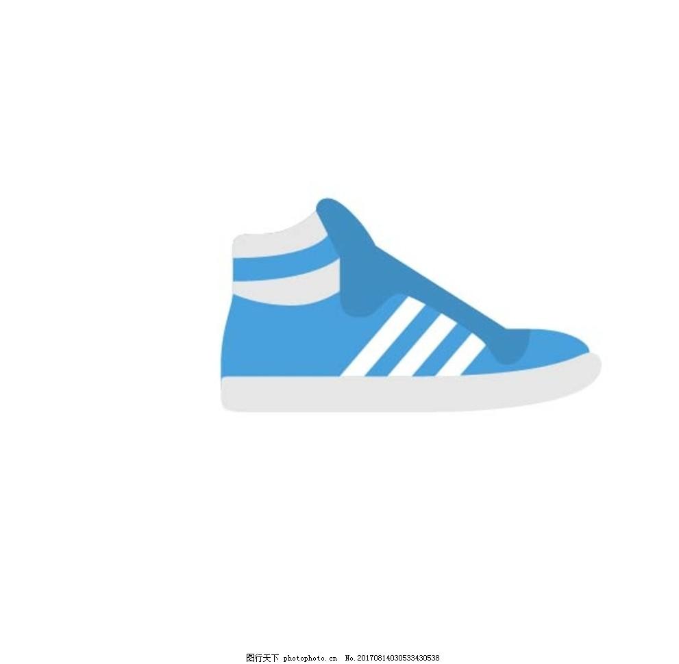 鞋子 矢量图标 小图标 时尚图标 生活图标 彩色图标 线性图标