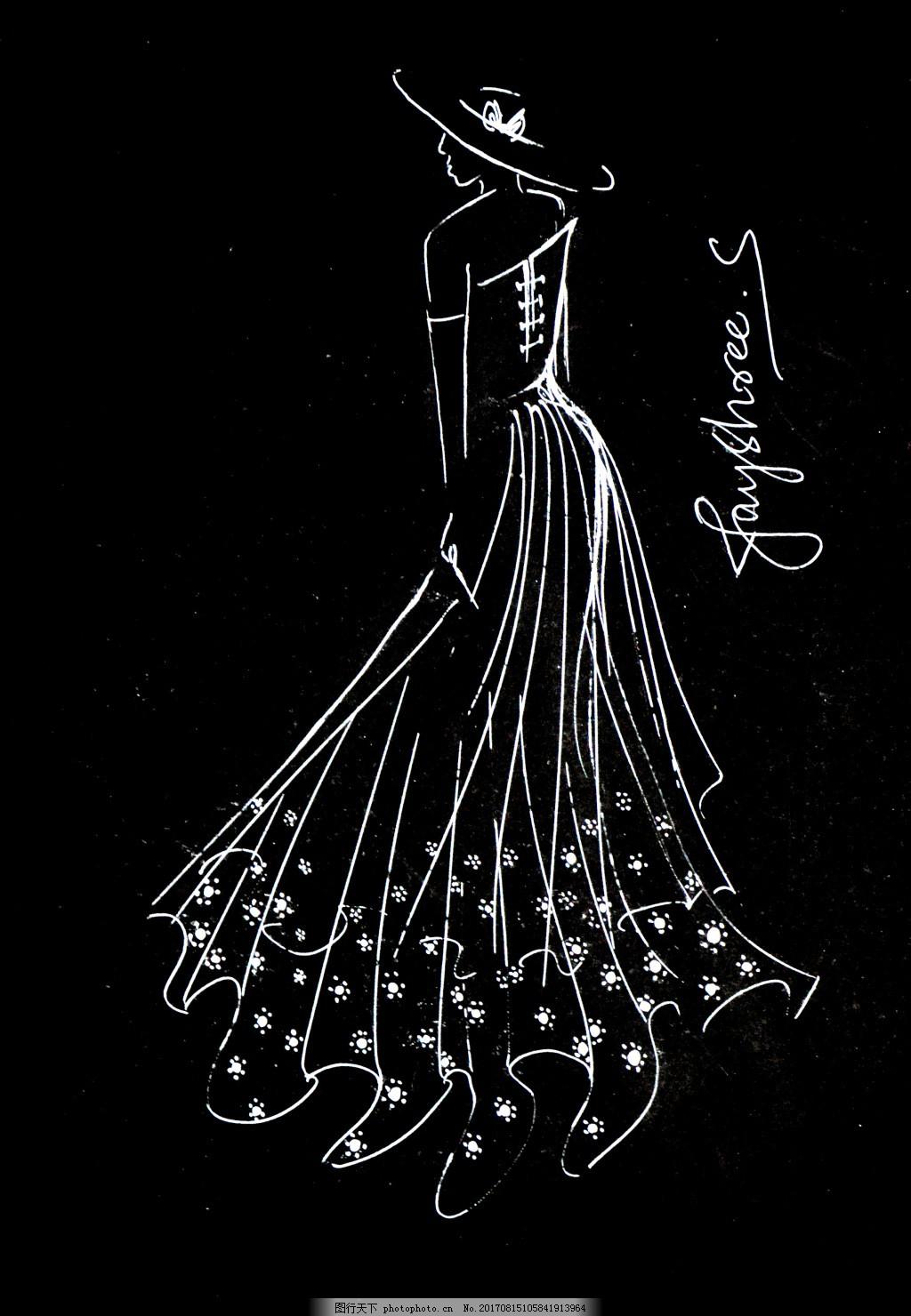 华丽裙摆沙曼婚纱设计效果图