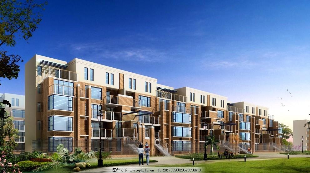 花园洋房 多层住宅 坡屋顶 简欧式设计 三段立面 建筑设计