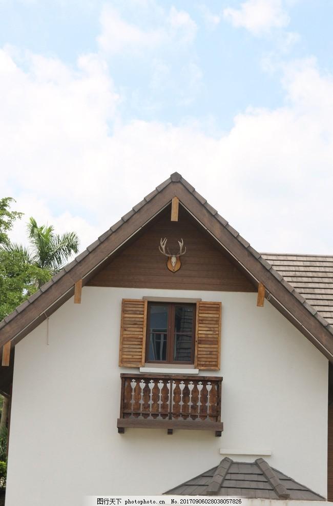 建筑 法式 欧式 木屋 风格 北欧 窗口 摄影 建筑园林 建筑摄影