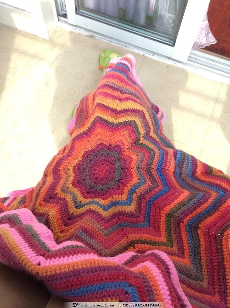毛线钩织毯子 毛线毯子 手工钩织 手工毛线 钩织品 钩针 钩针钩织