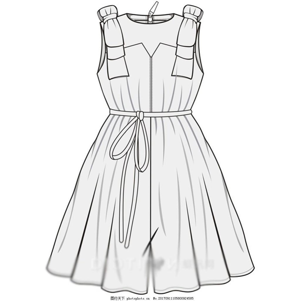 服装�:-+yl>[�~K�>K�_裤子长裤连衣裤服装手绘线稿(22)