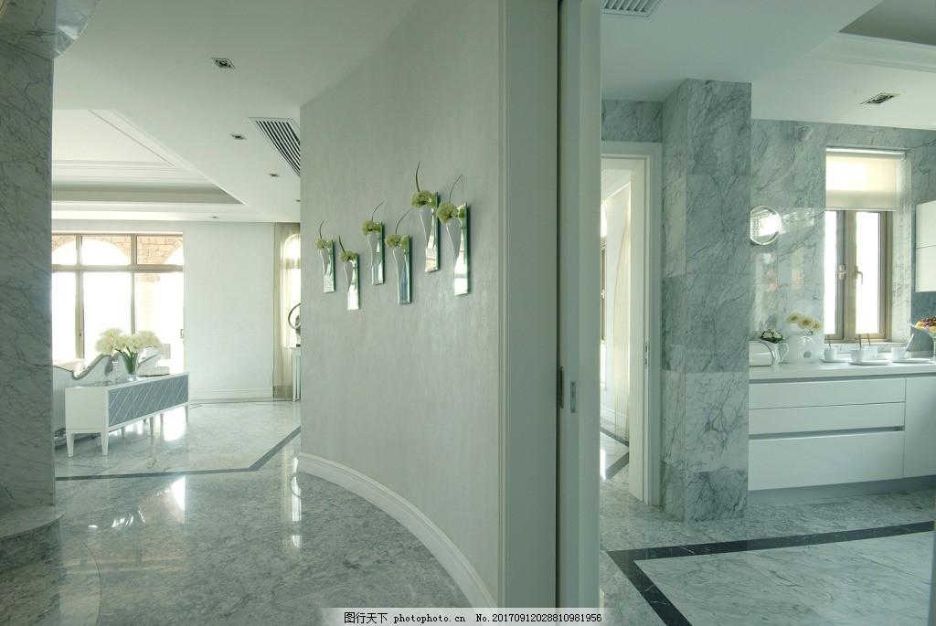 简约风格办公室墙面装饰装修效果图