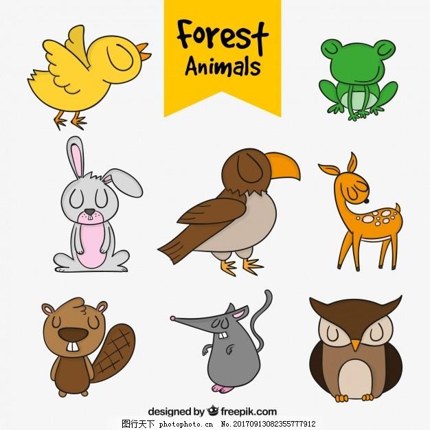 森林动物手工包