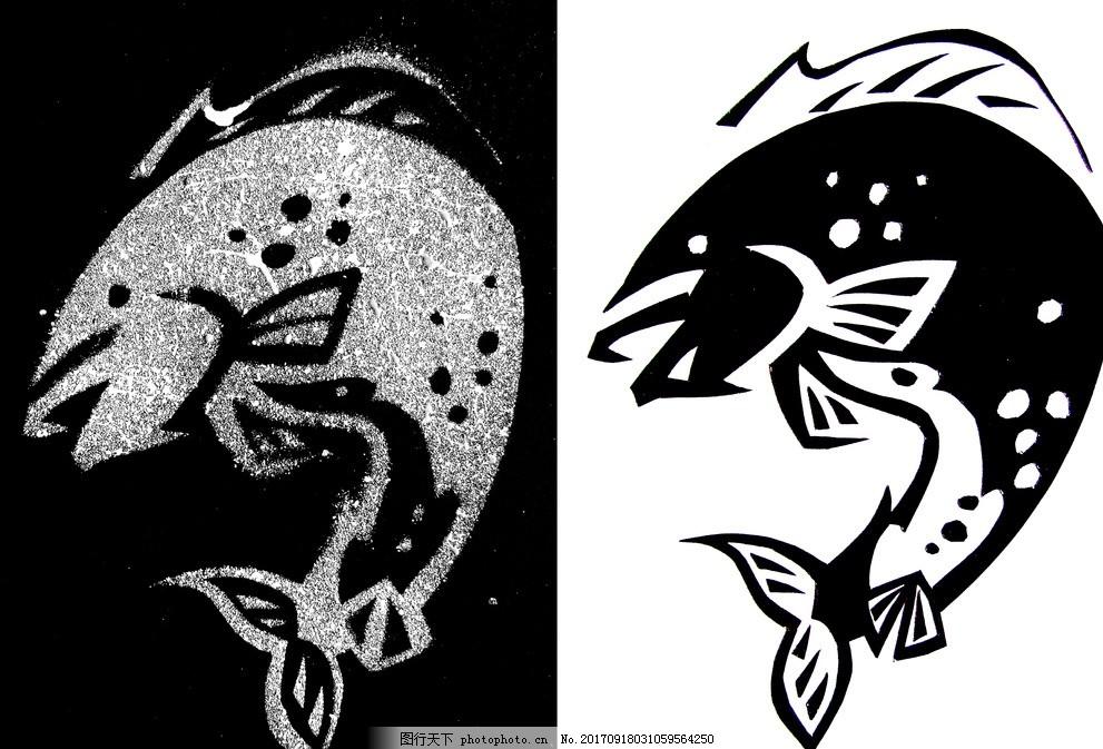 海豚 图低关系 平面设计 点线面 黑白