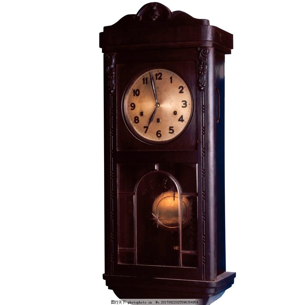 老式挂钟 座钟 老式座钟 钟表 木钟 木座钟 摄影 生活素材图片