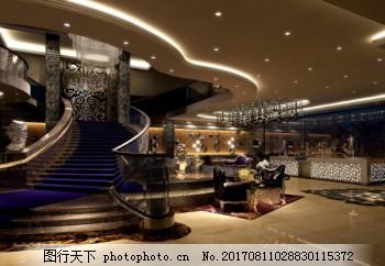 五星级酒店大堂3D模型,焦油酒店,豪华,装饰,欧洲风格