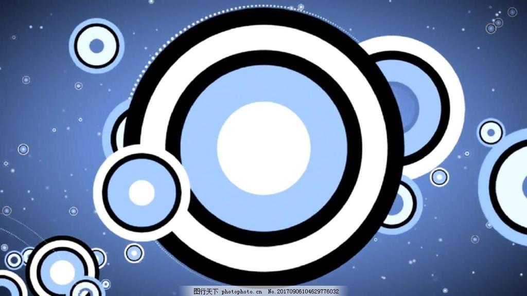 图片合成视频_蓝色圆环旋转缩放视频素材图片_合成背景_实拍视频-图行天下素材网
